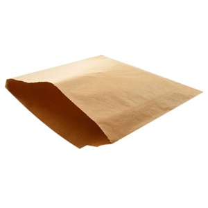 Bagcraft Kraft Natural Wax Bag 6.5 x 1 x 8 Template
