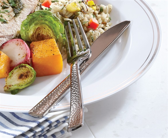 Disposable Hammered Cutlery | Catering Collection by Sabert