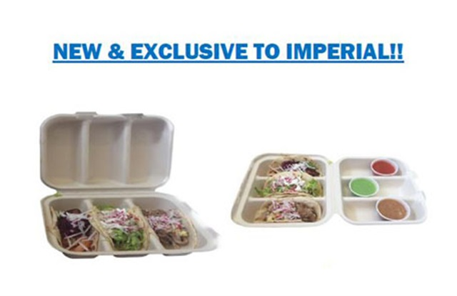 Compostable Fiber Hinge Takeout Container | by World Centric