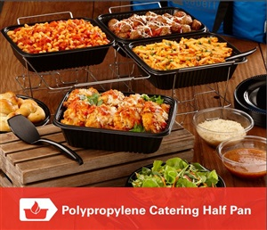 Black Polypropylene Catering Half Pan by Sabert