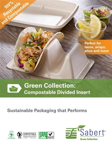 Compostable Divided Insert by Sabert