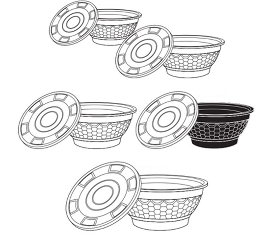 Microwaveable Plastic Noodle Bowls by Kari Out