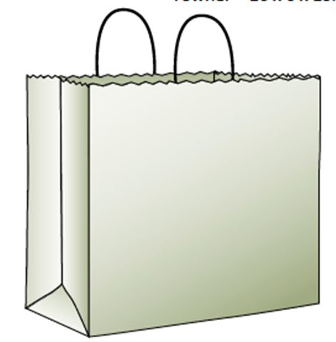 Kraft & White Paper Shopping Bags by Duro Bag
