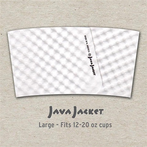 White Coffee Sleeve Template