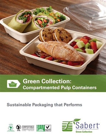 Compostable Compartmented Pulp Containers by Sabert