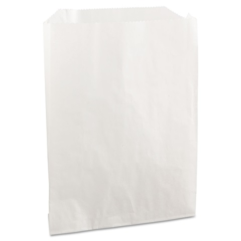6 x 1 x 8 White Wax Pastry Bag Template by Bagcraft