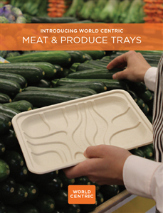 Plant Fiber Pulp Meat and Produce Trays by WorldCentric