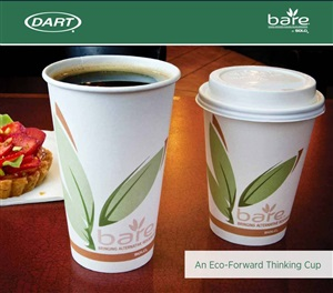 Bare Post-Consumer Recycled Content Paper Hot Cups by Dart Container