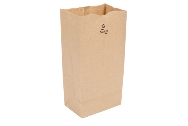 8 Lb. Grocery Bag Template by Duro Bag