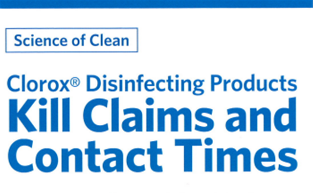 Clorox Disinfecting Products Kill Claims And Contact Times
