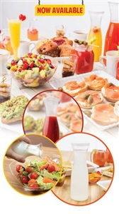 Disposable Catering Carafes with Lids by Fineline Settings