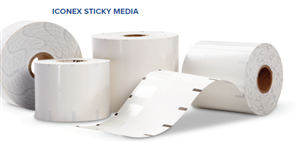 Sticky Thermal Paper Labels by Iconex