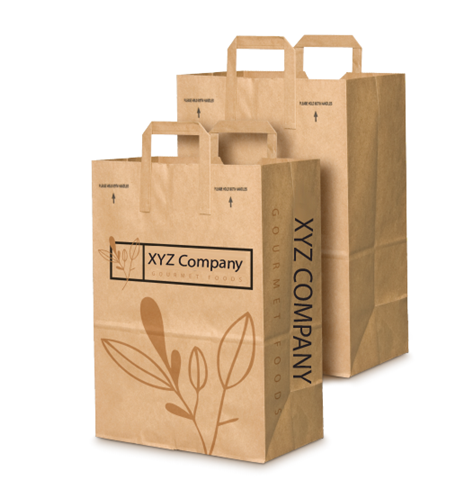 1-6 Barrel Paper Grocery Sack Template | by Duro Bag