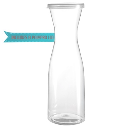 Disposable Juice or Wine Carafe with Lid for Catering | By Fineline Settings