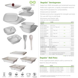 Compostable Fiber Catering Trays and Compostable Fiber Catering Bowls by Eco Products