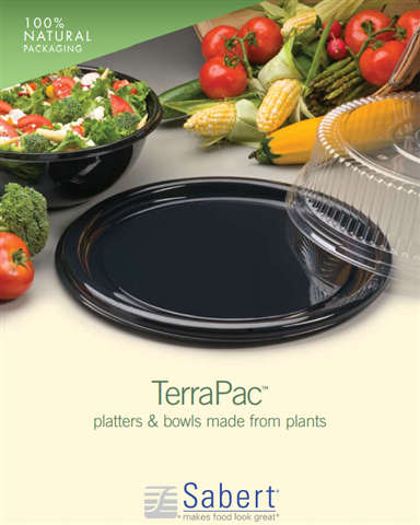 Sabert Catering Trays & Bowls Made Of PLA (Corn)
