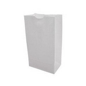 12 Lb White Side Seam Grocery Bag Template by Duro Bag