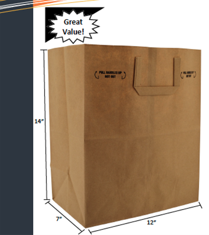 1-7th Barrel Handle Paper Sack by Duro Bag